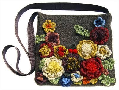 Оригинальная модная сумка ручной работы (handmade).  Увеличить.